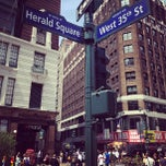 Photo taken at Herald Square by Takanori M. on 8/23/2013