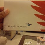 Photo taken at Garuda Indonesia Sales & Ticketing Office by Andre I. on 1/8/2014