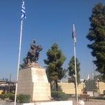 Photo taken at Αφετηρία Πλατείας Καραϊσκάκη by Ira B. on 9/28/2013