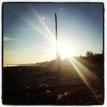Photo taken at Gaujas pludmale by Daria G. on 8/4/2013