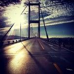 Photo taken at Boğaziçi Köprüsü by NCeylan K. on 11/17/2013