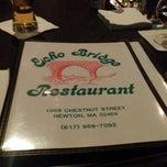 Photo taken at Echo Bridge Restaurant by Xander L. on 10/14/2012