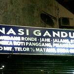 Photo taken at Warung Wayang Wong (Nasi Gandul & Wedang Ronde) by ferdi a. on 11/12/2012