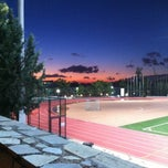 Photo taken at DEREE Soccer Field & Running Track by Johnny G. on 11/8/2012