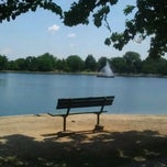 Photo taken at Byrd Park Boat (Fountain) Lake by Michael F. on 7/1/2011