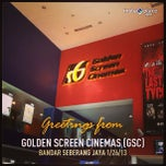 Photo taken at Golden Screen Cinemas (GSC) by Sariza N. on 1/26/2013