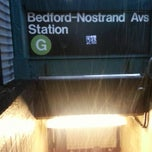 Photo taken at MTA Subway - Bedford/Nostrand Aves (G) by Tish W. on 2/3/2014