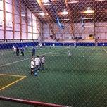 Photo taken at Centre sportif Bois-de-Boulogne by Annie D. on 12/28/2012