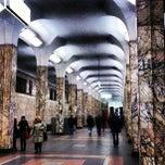 Photo taken at Метро Автозаводская (metro Avtozavodskaya) by Vasiliy T. on 11/2/2012