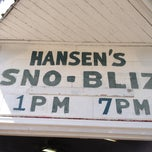 Photo taken at Hansen's Sno-Bliz by Danielle on 3/29/2013