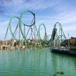 Photo taken at The Incredible Hulk Coaster by Silvia M. on 2/21/2013