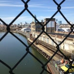 Photo taken at John Byrne-Greenpoint Avenue Bridge by retta on 4/21/2013