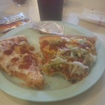 Photo taken at Godfather's Pizza by Michelle on 9/26/2012