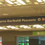 Photo taken at Passante Porta Garibaldi (linee S) by Serena on 10/8/2012