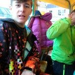 Photo taken at Yellow Tent Open Air Après Ski Bar by Margaux D. on 2/14/2015