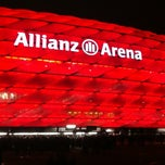 Photo taken at Allianz Arena by Joachim S. on 12/1/2012