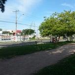 Photo taken at Pista de Caminhada by Leonardo A. on 3/30/2013