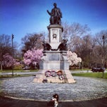 Photo taken at Lincoln Statue Dog Park by Alex U. on 4/10/2013