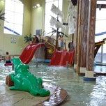 Photo taken at Buccaneer Bay Aquatic Fun Center by Paula T. on 10/21/2013