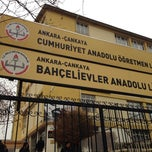 Photo taken at Bahçelievler Anadolu Lisesi by İlker T. on 12/21/2013