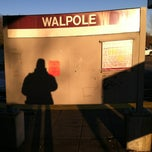 Photo taken at Walpole Train Station by Michael G. on 12/28/2012