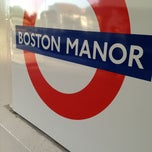 Photo taken at Boston Manor London Underground Station by Alex V. on 6/4/2013