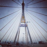Photo taken at สะพานภูมิพล ๑ (Bhumibol 1 Bridge) by sandwiz on 6/4/2013