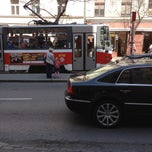 Photo taken at Štěpánská (tram) by Michal B. on 4/24/2013
