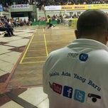 Photo taken at GOR Tridharma by Muhar A. on 2/16/2014