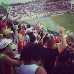 Photo taken at Estádio Municipal de Salgueiro by Fernanda M. on 1/21/2013