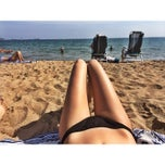 Photo taken at Issambres beach by Олеся М. on 9/20/2014
