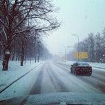 Photo taken at Остановка «Мичуринский проспект» by Alexey G. on 3/14/2013