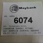 Photo taken at Maybank by Fatin A. on 7/8/2013