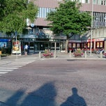 Photo taken at Mörby Centrum T-Bana by Keith R. on 7/4/2013