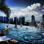 Photo taken at Rooftop Infinity Edge Pool by Andrey P. on 10/1/2013