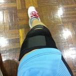 Photo taken at Foo Chow Badminton Hall by Hajar H. on 5/18/2013