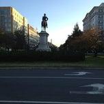 Photo taken at Scott Circle by Kevin K. on 11/9/2012