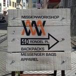 Photo taken at Mission Workshop by Rodrigo S. on 5/28/2013
