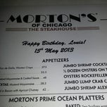Photo taken at Morton's The Steakhouse by Louis T. on 5/15/2013