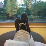 Photo taken at SOU Lenn & Dixie Hannon Library by David V. on 9/28/2012