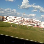 Photo taken at Estádio Municipal de Salgueiro by Joyce C. on 12/8/2013
