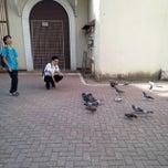 Photo taken at Plaza Del Pilar by Garrix R. on 12/6/2013