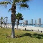 Photo taken at Playa Cavancha by Siara S. on 2/13/2014