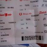 Photo taken at Bandara Syamsuddin Noor Airport by Eka P. on 7/13/2014