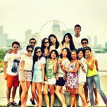 Photo taken at Marina Barrage by Grace Magdalene L. on 4/7/2013