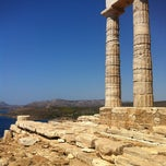 Photo taken at Ακρωτήρι Σουνίου (Cape Sounion) by Violette V. on 9/5/2012