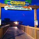 Photo taken at Clayton's Beach Bar And Grill by Conrad & Jenn R. on 4/30/2012