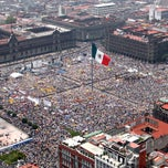Photo taken at Plaza de la Constitución (Zócalo) by Ciudadano Internacional on 7/7/2013