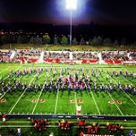 Photo taken at Kenneth P. LaValle Stadium by Navneet S. on 9/29/2013