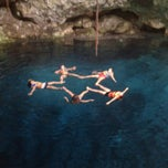 Photo taken at Los Tres Cenotes Cuzamá by Miriam M. on 7/23/2013